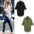 Fashion Women Button Down Chiffon T Shirt Casual Long Sleeve Tops Blouse