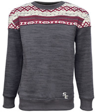 Summit Edge Men's North Shore Crewneck with Printed Upper Panel