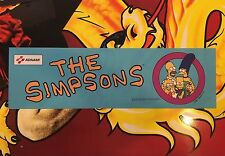 The Simpsons Arcade Marquee Konami Translight Header Sign Backlit Mylar