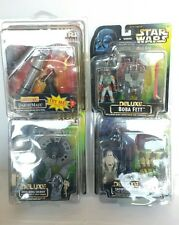 Star Wars Deluxe Figure LOT HOTH REBEL SOLDIER SNOWTROOPER DARTH MAUL BOBA FETT