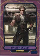 STAR WARS GALACTIC FILES SERIES 1 BLUE PARALLEL #192 DASH RENDAR 192/350