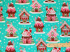 Gingerbread Houses Michael Miller Christmas Fabric  by the 1/2 Yard #CX 5952
