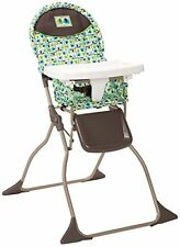 Cosco Simple Folding HIGH CHAIR, Adjustable Compact HIGHCHAIR, Elephant Squares