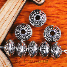 50Pieces 7*7mm spacer beads Tibetan silver Charms DIY Jewelry Making bead 7513
