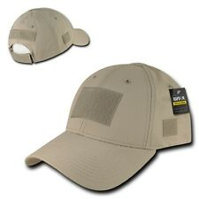 Khaki Tactical Ripstop Military Patch Operator Contractor Low Crown Cap Hat