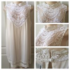WOMENS PLUS DRESS 3X NEW IVORY WHITE LACE TUNIC TOP 22 24 XXXL NWT SPRING DEAL