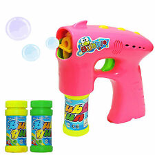 Bubble Machine Gun Shooter Bubbles Kids Party Toy with Free Solution