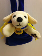 Andrex Puppy Dog Beanie Soft Toy In Blue Carry Case Bag PromoToilet Roll 8""