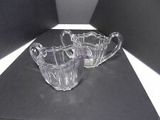 Ohio Flint Glass Krys-Tol Colonial 1776 Sugar Creamer Set Clear Crystal  ca1905