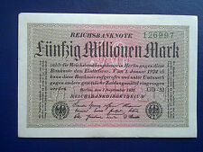 GERMANY - 50 MILLION MARK 1923 - EXTREMELY FINE