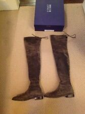 Stuart Weitzman Lowland 7.5M Over the knee boots - Loden Green Suede