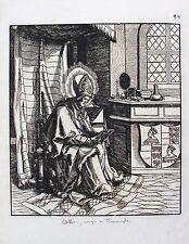 HANS BURGKMAIR, Images de Saints et Saintes, Plate 80, woodcut printed 1776