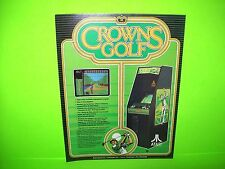 Atari CROWNS GOLF Original 1984 NOS Retro Video Arcade Promo Sales Flyer Rare