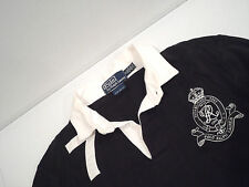 Ralph Lauren Men's Custom Fit Polo Shirt Size Small Long Sleeve Black #7 Rugby