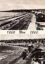 NICE promenade des Anglais aux deux époques 1860-1960 timbrée 1960