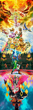 """The Legend of Zelda 25th Anniversary Game Fabric Poster 40"""" x 13"""" Decor 94"""