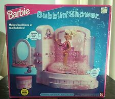 Rare Barbie Bubblin' Shower Bath 1992 bathroom playset- NRFB