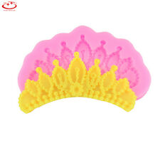 DIY Princess Crown Fondant Soap Cake Chocolate Sugar Mold Silicone Pastry Tool