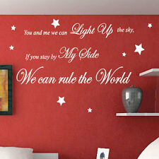 Take That Rule The World Song Lyrics Wall Quote Stickers Wall Decals Words p2