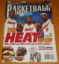 LEBRON JAMES WADE BOSH BECKETT BASKETBALL #227 SEPT. '10 COLLECTIBLE MAGAZINE