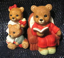 3x Lovely Princess House Ceramic figurines group bears