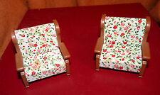 Lot meuble Figurine Sylvanian Families  2 canapés fauteuils  BANDAI 1986