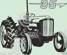 Vinilo Pared Arte Massey Ferguson 35 Classic Tractor calcomanía