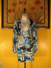 NWT  Arden B. Ocean Floral Double V-Neck Sheath Dress Size M