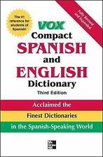 Vox Compact Spanish and English Dictionary by Vox Staff (2008, Book, Other)