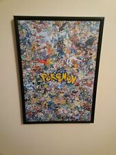 Pokemon A4 260gsm Framed Poster Print