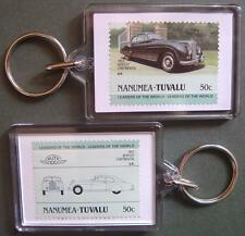 1952 BENTLEY CONTINENTAL Car Stamp Keyring (Auto 100 Automobile)