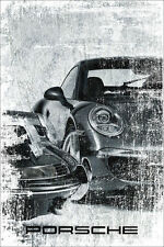 "Porsche Car Dealer Garage Abstract Poster Original Art Print Poster 24"" x 36"""