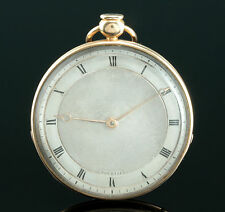 Souriau a Paris 1820 18k Empire Gold Taschenuhr ¼ Repetition Parachute