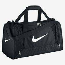 Nike Brasilia Team Training Bag Sports Holdall Gym Duffel Swoosh Bag Small BLACK