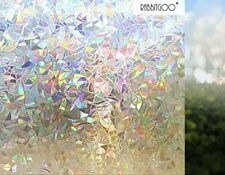 Rabbitgoo® 3d No Glue Static Decorative Frosted Privacy Window Films For Glass