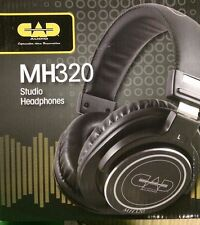 CAD Audio MH320 Closed-Back Studio Headphones, 10Hz-26kHz Frequency Response,