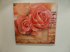 2 Bilder  Bild Druck auf Keilrahmen Motiv Rosen je 70x70 cm
