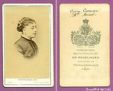 CDV REUTLINGER : GABRIELLE MOISSET ARTISTE LYRIQUE OPÉRA-COMIQUE VERS 1868 -J82