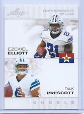 "EZEKIEL ELLIOTT & DAK PRESCOTT 2016 LEAF ""1ST EVER PRINTED"" DUAL ROOKIE CARD!"