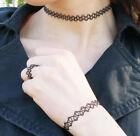 Tattoo Choker Halskette Armband Ring Henna Gothic 10 Farben  Retro elastisch