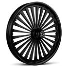 "DNA ""SS2"" GLOSS BLACK FORGED BILLET 21"" X 3.25"" FRONT WHEEL HARLEY TOURING"