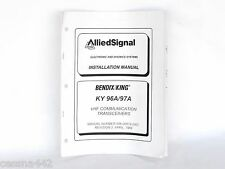 Bendix King RARE Installation Manual KY 96A 97A VHF Aircraft Aviation Part Gift