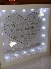 Personnalisé fiançailles ou cadeau de mariage avec cristal strass et lumières