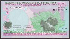 TWN - RWANDA 26a2 - 500 Francs 1/12/1998 UNC Prefix AL