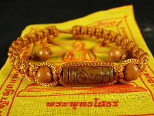 Buddha 'MALA' Blessed  BRACELET REAL LEK NAM PEE THAI MAGIC STEEL with PHA YANT
