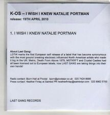 (AZ305) K-Os, I Wish I Knew Natalie Portman - DJ CD