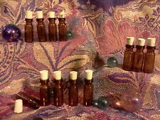Wholesale SET-12pc glass AMBER MINI bottles REAL cork Small pendant potion NICE