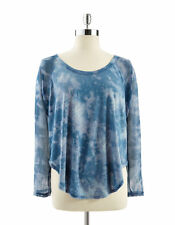 NWT JESSICA SIMPSON GIGI LONG SLEEVE TIE DYE MESH SLEEVE TEE TOP SZ 2X  PLUS SZ