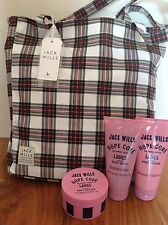 Jack Wills Overnight, beach,Tote Bag & Body Lotion, Butter, Scrub Wash.  NEW
