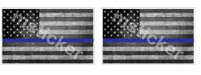 2x Thin Blue Line USA distressed b&w Flag Sticker Decal Police All Lives matter